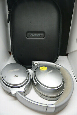 Bose Quietcomfort 35 Wireless Headphones Silver Bluetooth W/Case