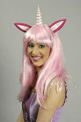 Perücke Einhorn pink rosa für Kostüm Märchen Fantasy - Rosa Perücke Kostüme