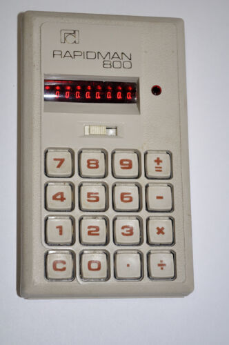VINTAGE RAPIDMAN 800 ULTRA RARE OLD CALCULATOR WORKS PERFECTLY