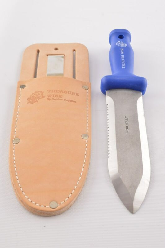 3-in-1 Treasure Wise Metal Detector User Digging Knife and Large Leather Sheath!