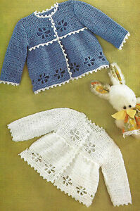 PRETTY BABY CROCHET MATINEE COATS  PATTERN              ( 448)