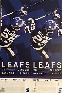 Toronto Maple Leafs vs Vancouver Canucks Saturday Jan 5 Row 2