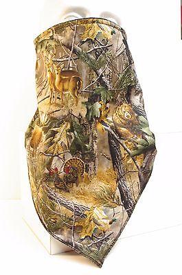 Forest Animal Camo fleece lined bandana motorcycle hunting face - Woodland Camo Bandana Mask