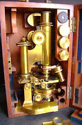 Antique Brass Microscope