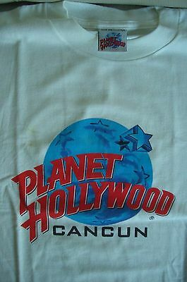 Planet Hollywood Cancun White Tee Size L XL-Fotos Neu