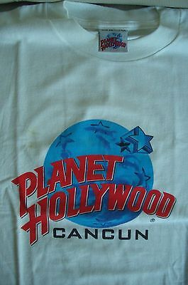 Planet Hollywood Cancun White Tee Size L New Neu