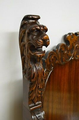 Antique 19th Century Carved Mahogany Throne Arm Chair for sale  Sellersville