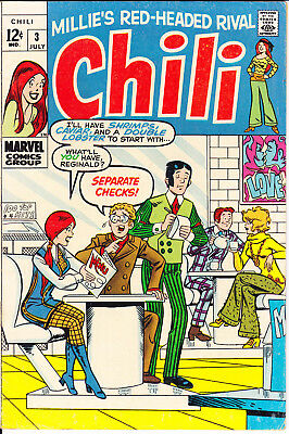 Chili 3 FN/VF (7.0) Groovy Love Romance Millie the Model 1969 Marvel Comics