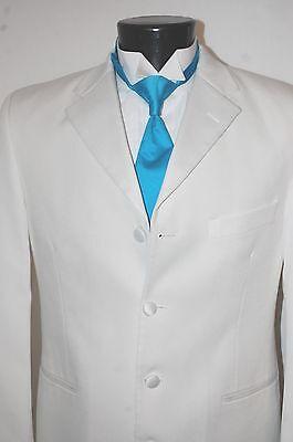 Boys Duster Jacket (Boys 3 White D.J. Western Duster LONG frock Jacket Tuxedo Gangster Tux)