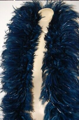 2 Yard Hackle Boa PERIWINKLE Feathers 7-10