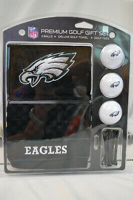 NEW Philadelphia Eagles Golf Gift Set with Embroidered Towel Eagles Embroidered Golf Towel