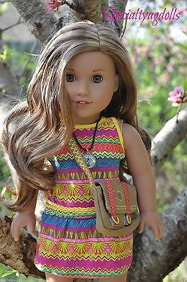 American Girl Lea Clark Doll of the Year Book Necklace & Messenger Bag Leah New