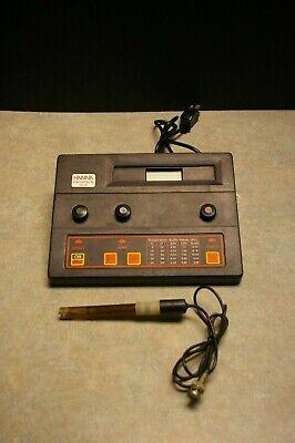 Hanna Instruments Hi 8519 Phmv Orp Meter Bench Top Fish Aquarium Sensor Unit