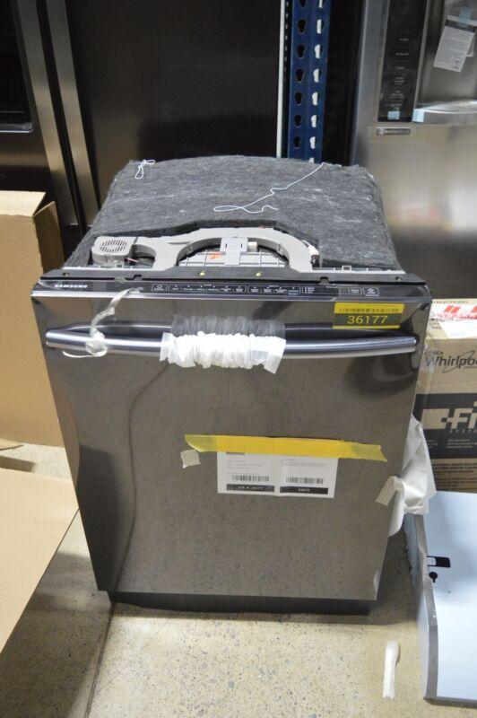 "Samsung Stormwash, 3rd Rack, 24"" Top Control Built-In Dishwasher Black Stainless Steel DW80K7050UG"