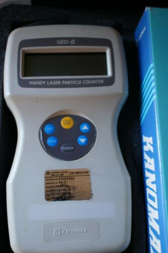 KANOMAX GEO-A HANDY LASER PARTICLE COUNTER MODEL: 3886