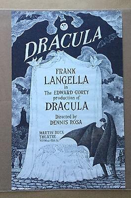 Vintage DRACULA / E.GOREY Poster (Martin Beck Theater)1978 Limited Run (Rare)