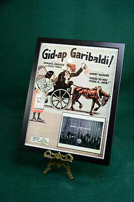 1925 Poster (Altes Konzertplakat Poster um 1925. Jazz, Blues und Swingmusik, mit Rahmen)