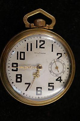 Vintage Waltham P.S. Bartlett 17 Jewel Pocket Watch Gold Plated - Engraving