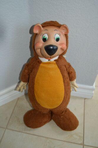 "VINTAGE 1959 Huckleberry Hound Bear 18"" Stuffed Plush Knickerbocker Toy Company"
