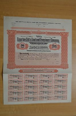 Egyptian Delta Land and Investment Co. Ltd 50  Specimen Bearer Warrants
