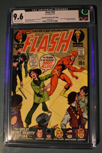 Flash  #204 - CGC 9.6 - Murphy Anderson Pedigree - DC Comics 1971