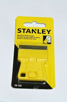 STANLEY MINI RAZOR BLADE SCRAPER 28-100 High Visibility Window Painters (Stanley Window Scraper)