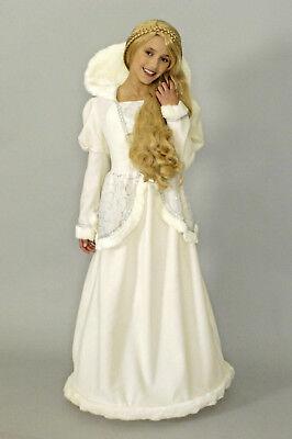 Kinder Kostüm SCHNEEKÖNIGIN Prinzessin Königin Mädchen Anastasia Märchen NEU - Kinder Schnee Prinzessin Kostüm