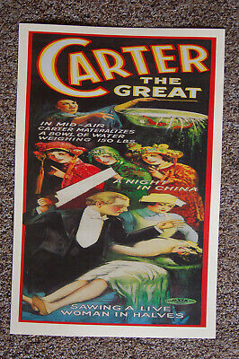 Carter The Great magician poster #9 1926 A Night In China A Night In China