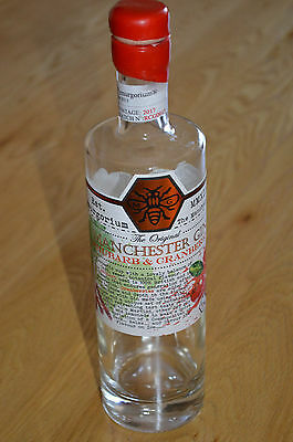 Manchester Rhubarb & Cranberry Gin bottle 50cl - Upcycle Craft, wedding, garden