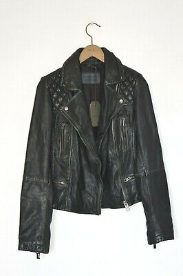 *BRAND NEW* AllSaints Ladies CARGO leather Biker Jacket UK8 US4 EU36 Black