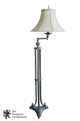 Uttermost Rustic Floor Reading Lamp w/ Swing Arm & Bell Shade 58