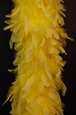 80 Gram CHANDELLE FEATHER BOA - YELLOW 2 Yards Costumes/Halloween/Bridal/Costume
