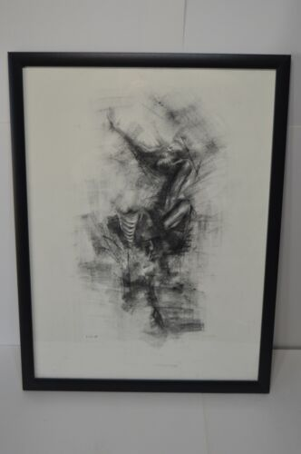 Original Pencil On Paper Abstract Nude Human Body Parts Drawing Art