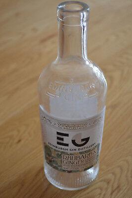 Edinburgh Rhubarb & Ginger Liquer Gin bottle 50cl - Upcycle Craft, wedding, lamp