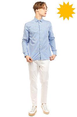 OBVIOUS BASIC Shirt Size 42 16 1/2 L Gingham Pattern Button-Up Regular Collar