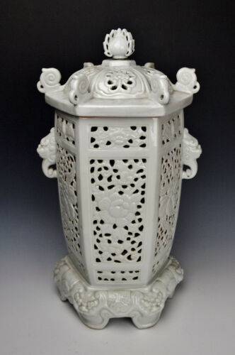 FINE LARGE HIRADO LANTERN CENSER 1700s MET Museum Edo Porcelain Antique Incense