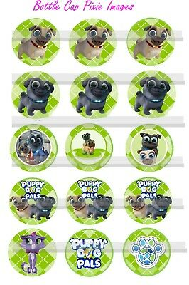 Puppy Dog Pals Rolly Bingo Hissy 15 BOTTLE CAP IMAGES or Cup Cake Toppers