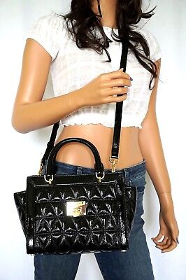 NWT MICHAEL KORS VIVIANNE PATENT LEATHER SMALL SATCHEL MESSENGER BAG (Patent Leather Messenger)
