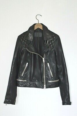 *BRAND NEW* AllSaints Ladies CONROY Leather Biker Jacket UK8 US4 Moto Cargo