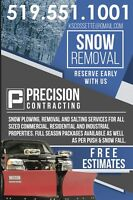 Snow Plowing services/ Removal ALL SIZE LOTS