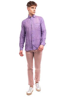 RRP €125 ALTEA Linen Shirt Size 40 / M Garment Dye Long Sleeve Made in Italy