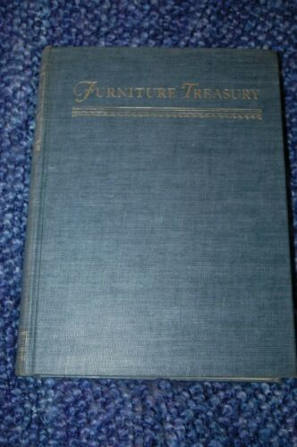 """BOOK """"FURNITURE TREASURY"""" HIGHLY ILLUSTRATED WALLACE NUTTING, MACMILIAN CO. 1949"""