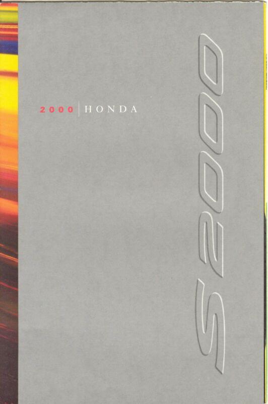 2000 Honda S2000 Dealer Sales Brochure - Mint!