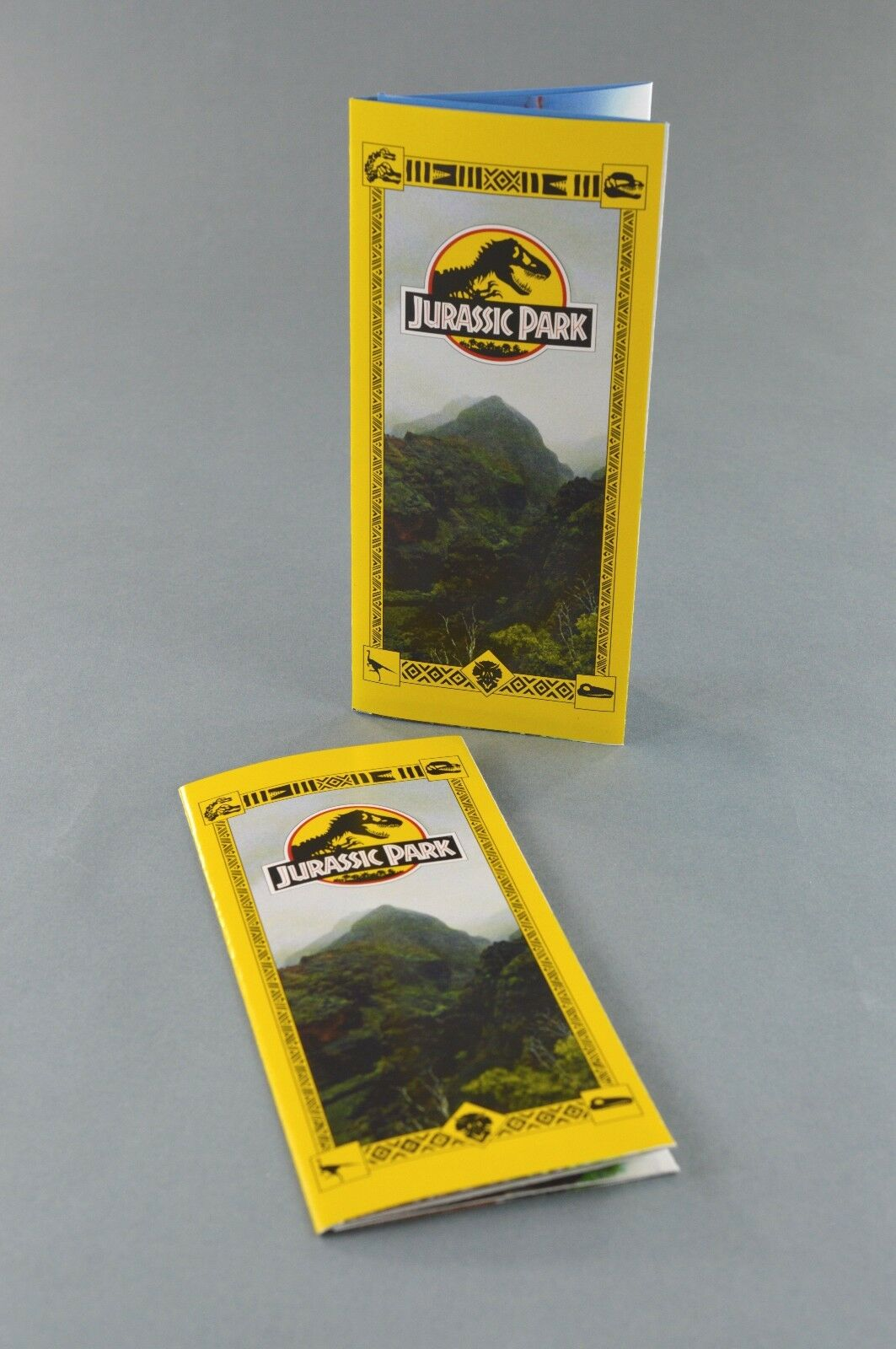 Jurassic Park Tour Brochure Guide Pamphlet x2 Prop Replica Screen Accurate New