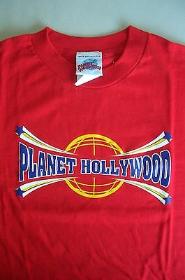 Planet Hollywood Cancun Red Tee Size L XL-Fotos Neu