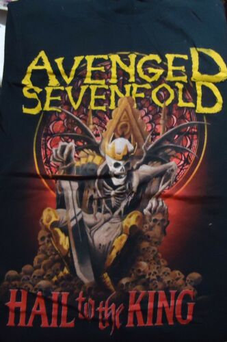 Vintage Avenged Sevenfold Hail to the King T Shirt (Large)