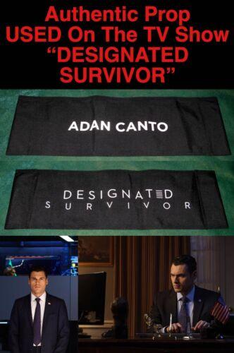 "Rare ADAN CANTO ""DESIGNATED SURVIVOR"" Auth CHAIR BACK PROP B Used by ADAN CANTO"