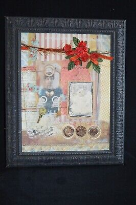 Mixed Media contemporary collage Jan Vermillion Thompson