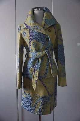 JONES Herbst Winter Kostüm Mini Rock Jacke Brokat türkis blau grün Gr. S 36 - Blauer Mini Rock Kostüm