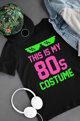 80s Costume Ideas For Men (This Is My 80s Costume T Shirt Fancy Dress Idea Party Men Women Pop Clothes)